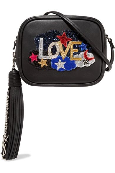 Monogram Love Blogger Embellished Leather Shoulder Bag in Eero