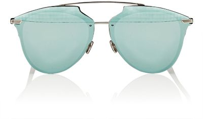 Reflected Prism 63Mm Oversize Mirrored Brow Bar Sunglasses - Grey/ Silver Mirror, Undefined