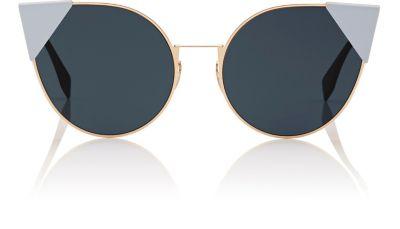 Ff 0191 000 A9 Rose Gold Lei Cat-Eye Sunglasses, Polished Gold-Tone