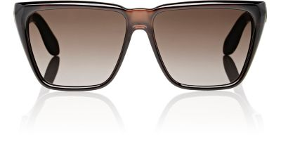 Gv 7002 R99 Brown Mirror Square Sunglasses in Black/ White Mirror