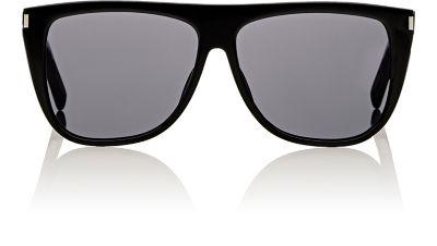 Women'S Mirrored Flat Top Square Sunglasses, 59Mm, Black