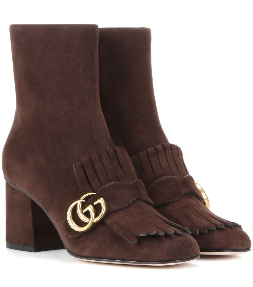 Marmont 75Mm Fringe Ankle Boot, Brown