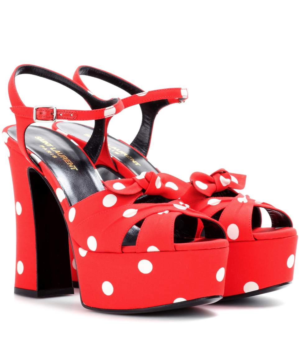 Candy 80 Bow Platform Sandals in Red