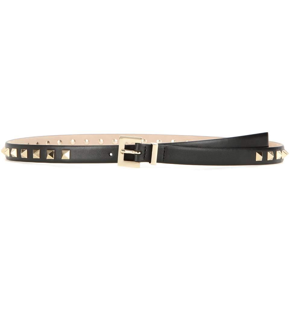Garavani Rockstud leather belt Valentino NWfGaJl