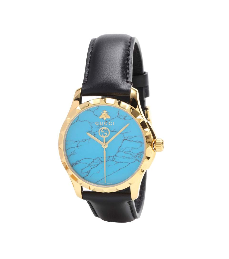Le Marché Des Merveilles Synthetic Turquoise, Goldtone Pvd & Leather Strap Watch in Blue