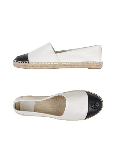 TORY BURCH Colorblock Cap-Toe Espadrille Flat, Ivory/Black in Ivory / Black
