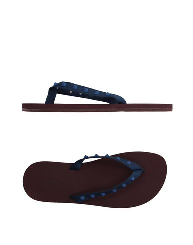 55bd755a1ad1 Valentino Studded Flip Flops In Blue Red