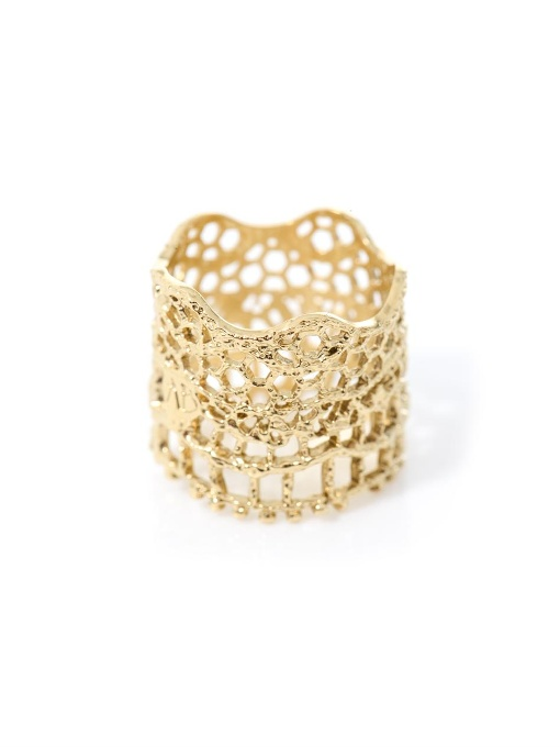 Gold-Plated Vintage Lace Ring, 18Ct Gold Plated
