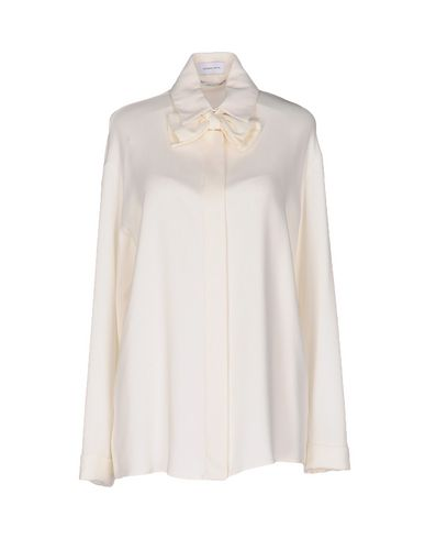 CATERINA GATTA Solid Color Shirts & Blouses in Ivory
