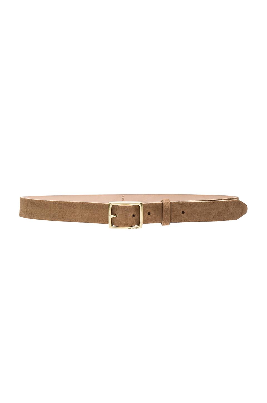 Suede Boyfriend Belt, Camel, Brown
