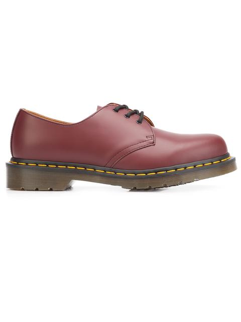DR. MARTENS Plain Toe Derby in Red
