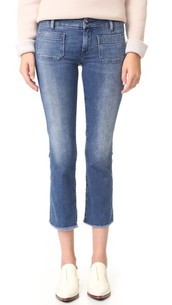 SEAFARER Straight Cropped Jeans in Power Stretch Medium Vintage