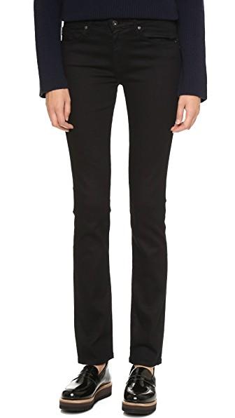 The Harper Essential Straight Leg Jeans, Overdyed Black