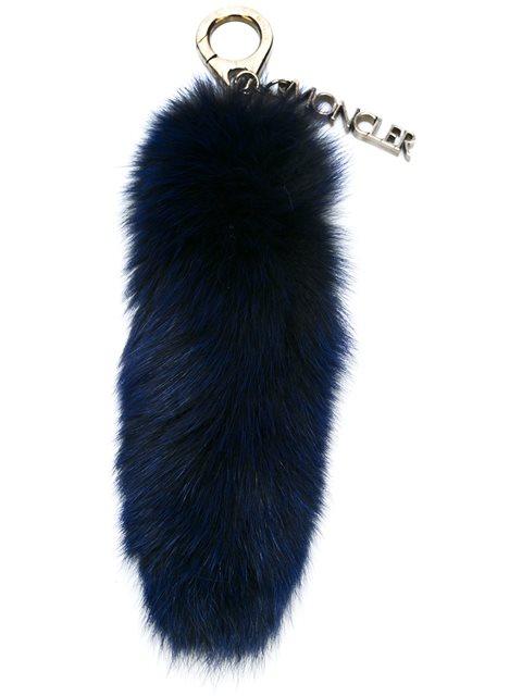 Moncler Rabbit Fur Bag Charm - Blue