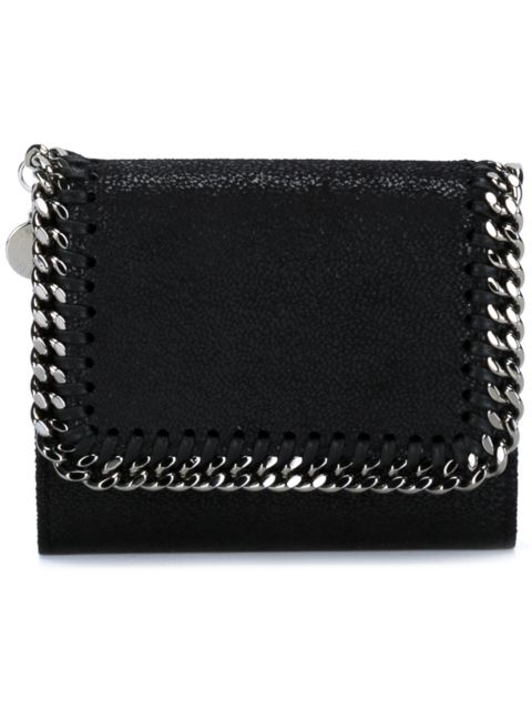 Women'S Wallet Coin Case Holder Purse Card Trifold in Black