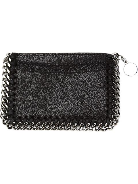 Falabella Zipped Card Holder in Black