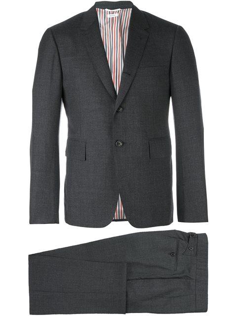 Classic Suit In Dark Grey Super 120'S Wool Plain Weave