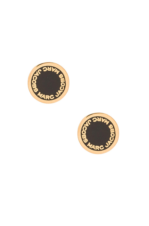 Pagar con PayPal Pendientes De Oro Y El Logotipo Del Perno Prisionero Del Negro De Marc Jacobs Buena venta barata en línea Descuento Brand New Unisex Limitado 6ae8TK