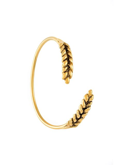 AURELIE BIDERMANN Two Cobs Wheat Bangle Bracelet in Metallic