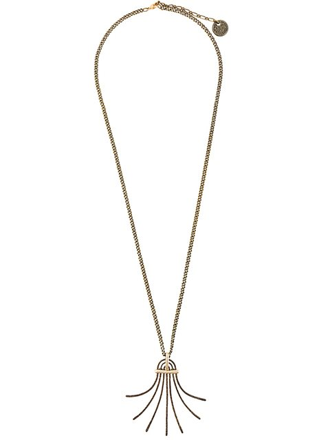 LANVIN Lanvin Spiral Spread Necklace - Metallic