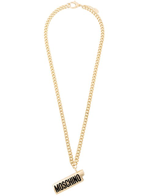 MOSCHINO Lighter Cover Necklace in Gold