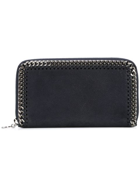 Stella Mccartney Chain-Detail Continental Wallet - Black, Blue