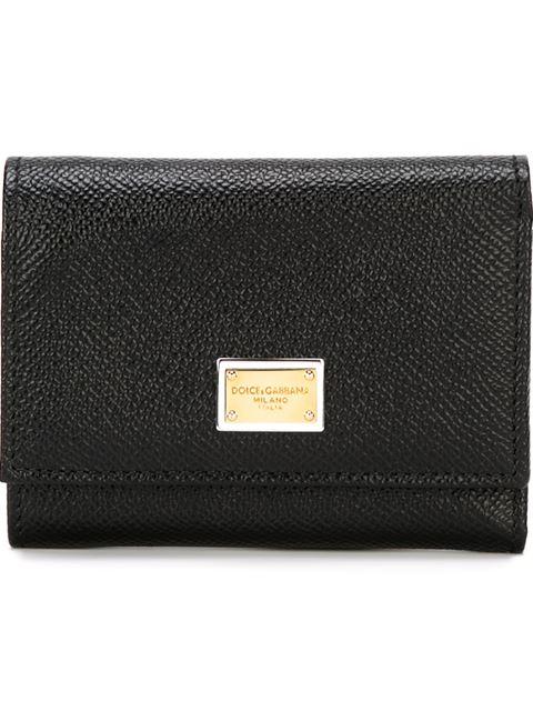 Black Small Foldover Wallet
