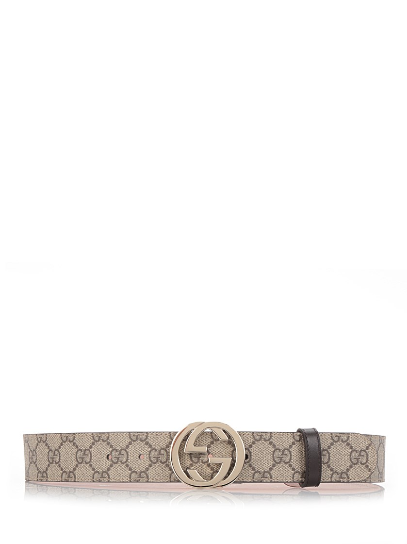 Gg Supreme Belt With G Buckle in Brown