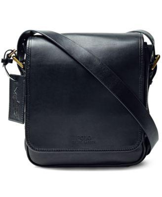 fbde5e82b44 Polo Ralph Lauren Men  039 S Compact Messenger Bag In Black   ModeSens