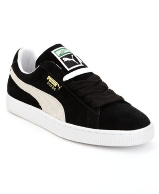 Men'S Breaker Leather Casual Sneakers From Finish Line in Black