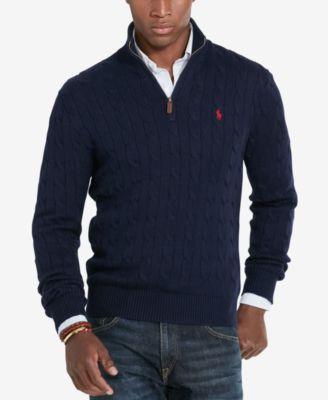 104eadde86e4 ... where to buy polo ralph lauren half zipper mock neck men s sweater size  xxl da4e5