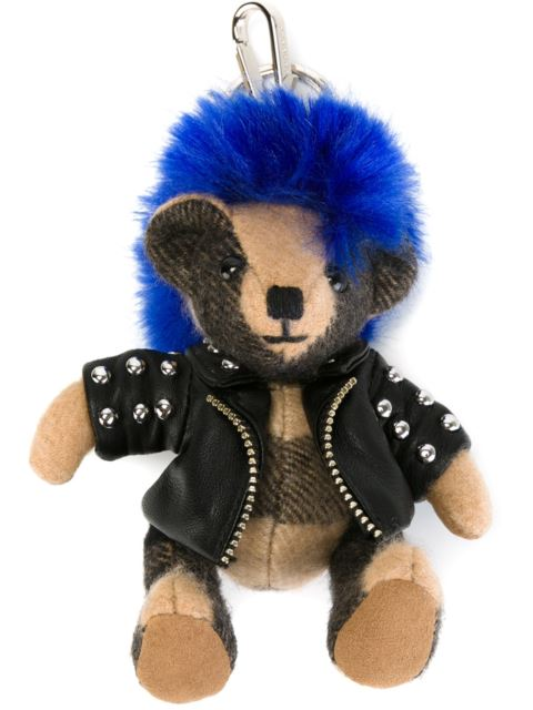 Thomas Punk Cashmere Bear Key Charm in Black