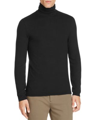 ATM ANTHONY THOMAS MELILLO Rib-Knit Fitted Turtleneck Top - Black Size Xxl