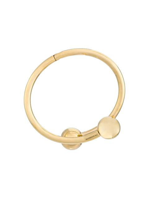 Jw Anderson Double Ball Wrap Around Bracelet in Metallic