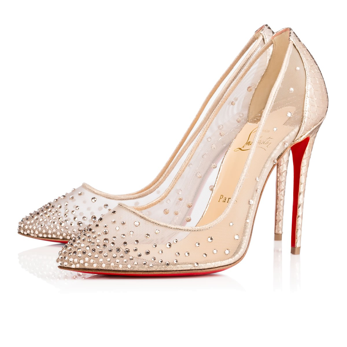christian louboutin follies strass beige