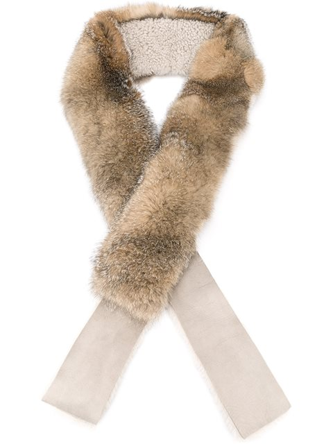 32 PARADIS SPRUNG FRÈRES 32 Paradis Sprung Frères Fox Fur And Shearling Scarf - Neutrals