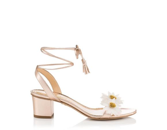 Charlotte Olympia Floral Appliqué Ankle Strap Sandals finishline cheap price footlocker online discount really classic free shipping pay with paypal VIfww