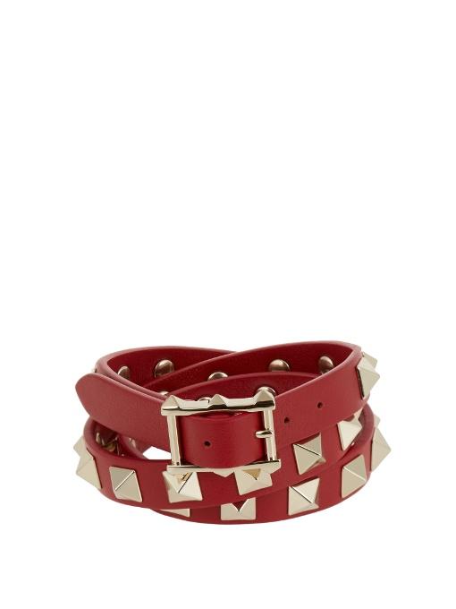 Rockstud wraparound leather bracelet Valentino hJoGQSl