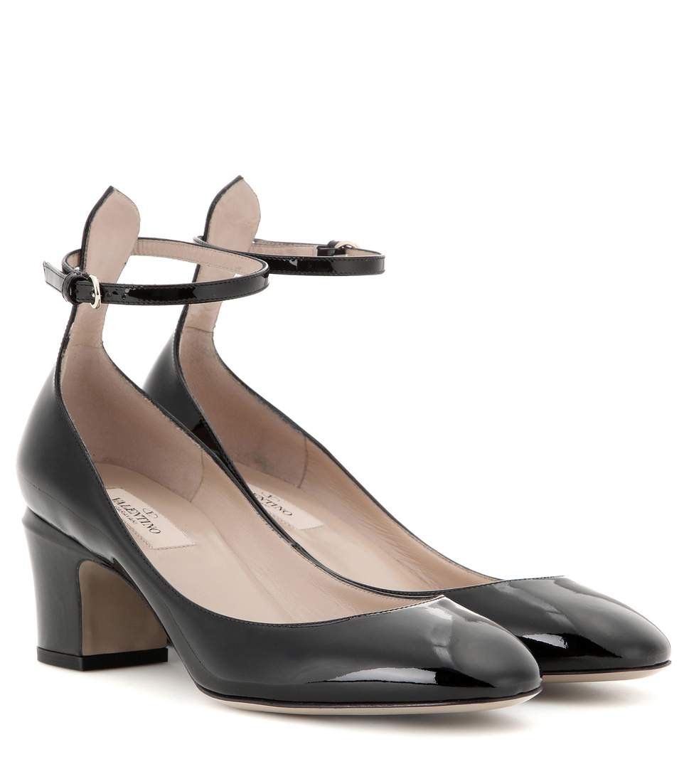 Tan-Go Patent Leather Pumps in Black