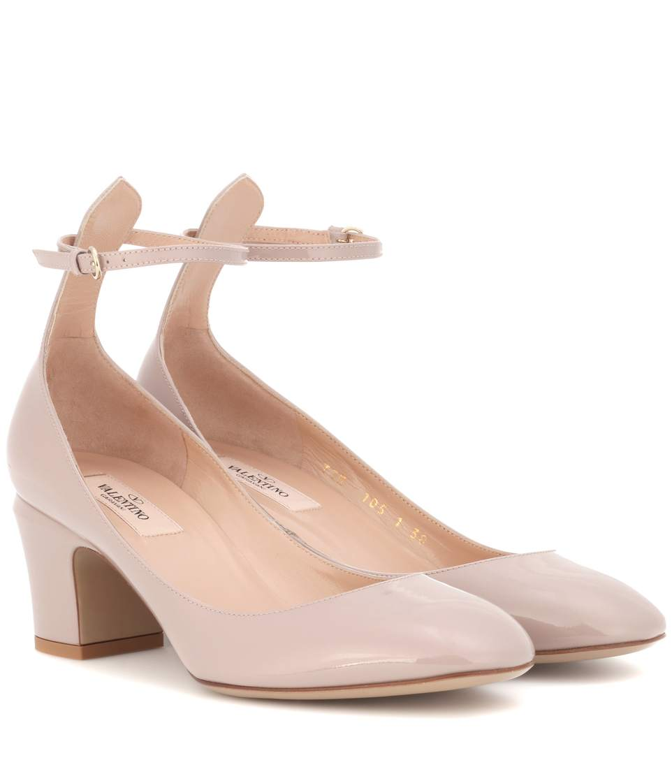 Tan-Go Patent Leather Pumps, Brown