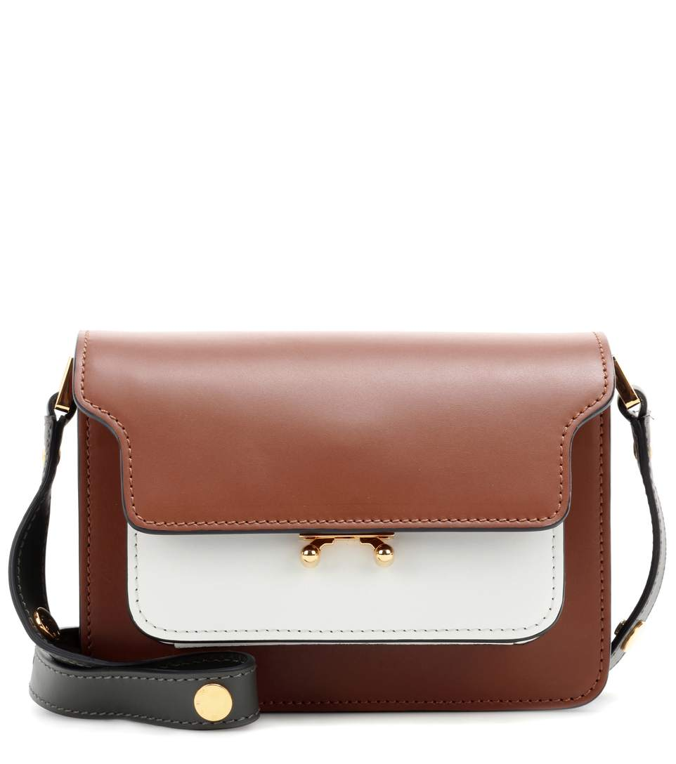 Cheap Sale Best Store To Get Buy Cheap Brand New Unisex Colour-block Shoulder Bag - Only One Size / Brown Marni Prices Online Discount Shop For Free Shipping Reliable rzr2t