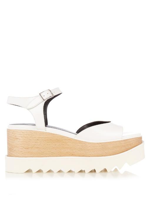 Felik Platform Sandals in White