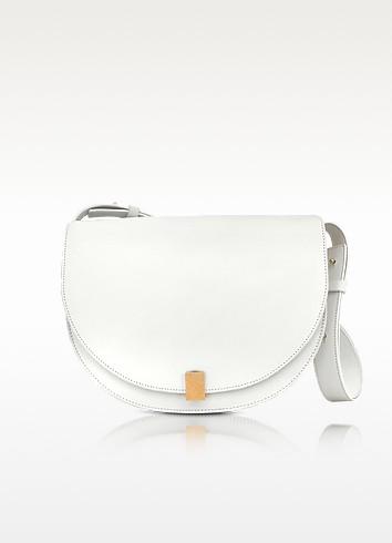 VICTORIA BECKHAM Half Moon Box Shoulder Bag - White