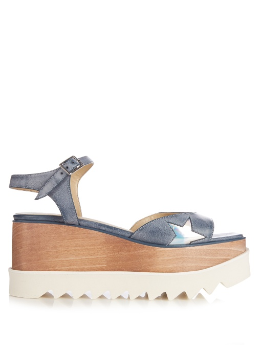 Elyse Stars Platform Sandals, Light Blue