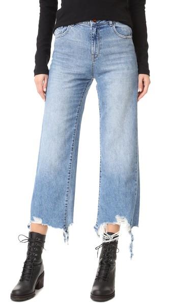 DL1961 1961 Hepburn High Rise Wide Leg Jeans in Slate