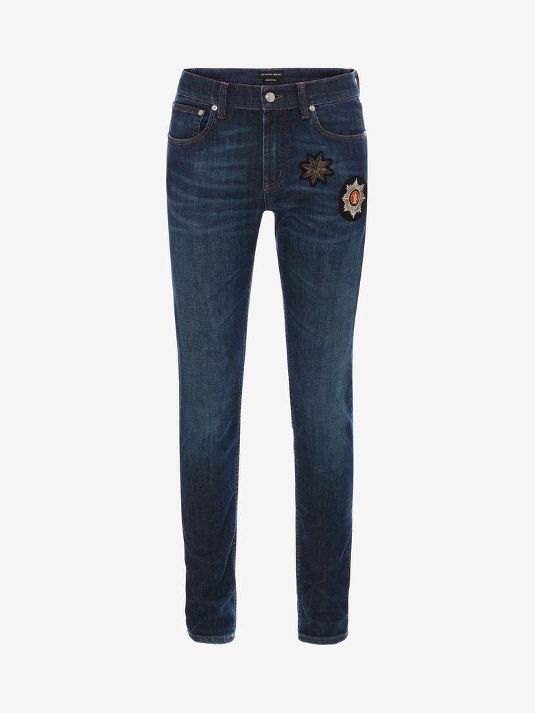 17cm Jeans En Denim Bleu Printemps / Été Alexander Mcqueen 4sA25Gn