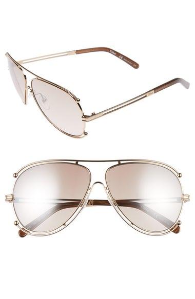 793c8f912505 CHLOÉ Isidora Metal Aviator Sunglasses