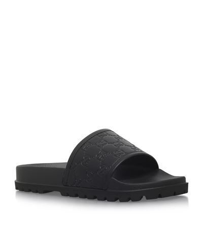 Logo Rubber Slide Sandals - Black Size 11 M