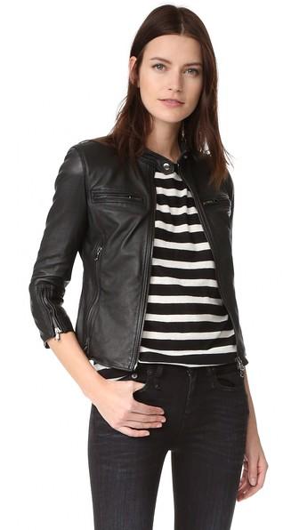 Cafe Racer Jacket in Black
