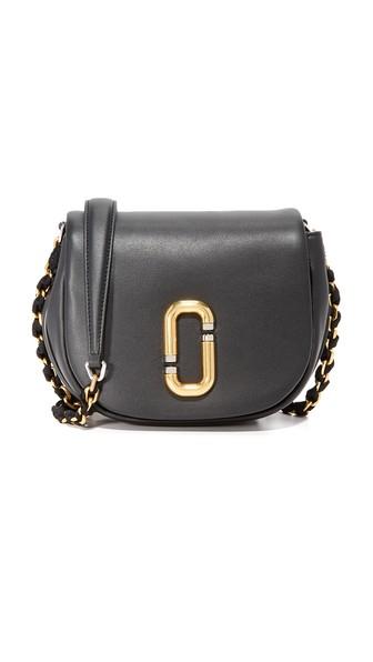 Kiki Leather Crossbody Bag, Dove in Black